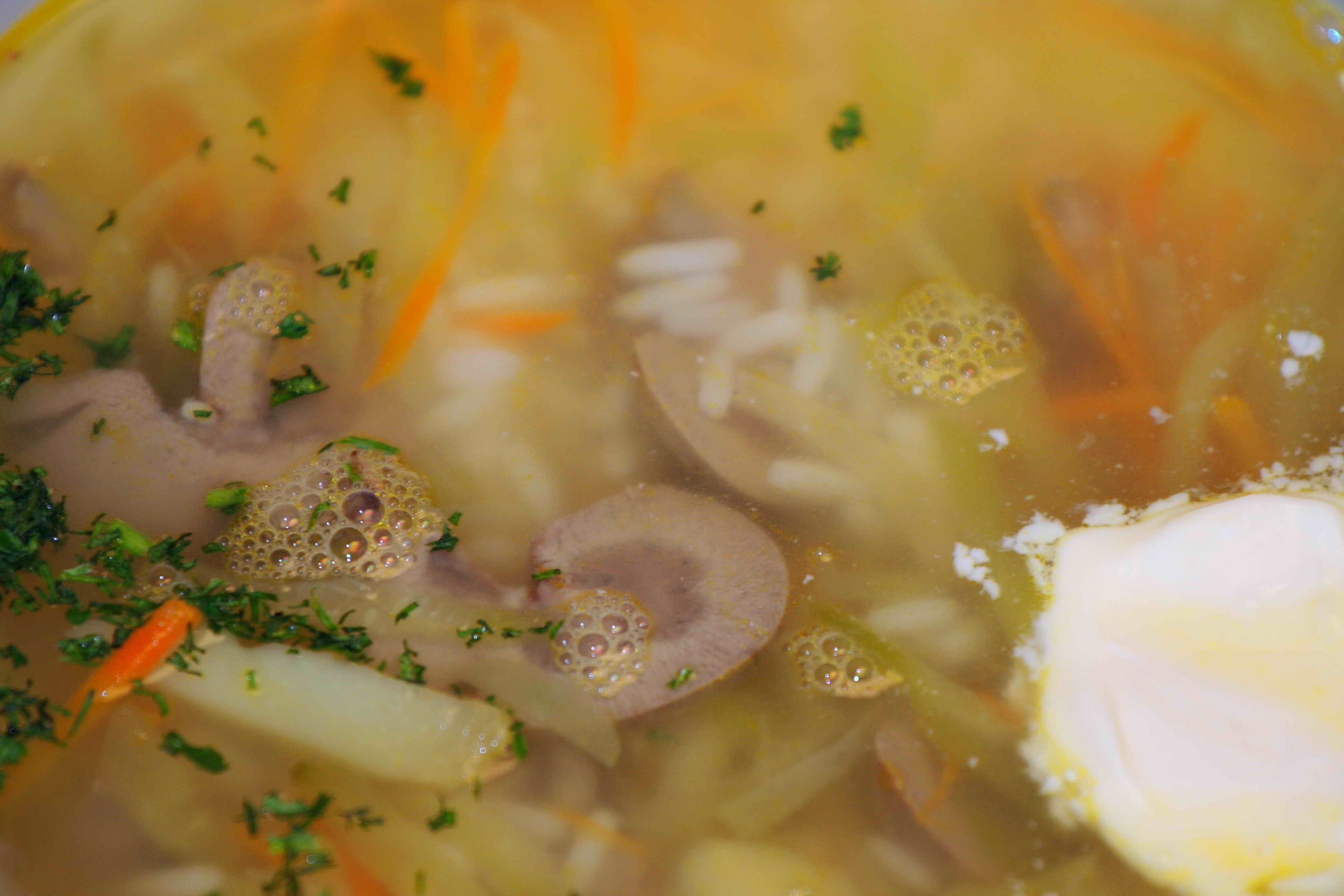 Rassolnik soup with  veal kidneys